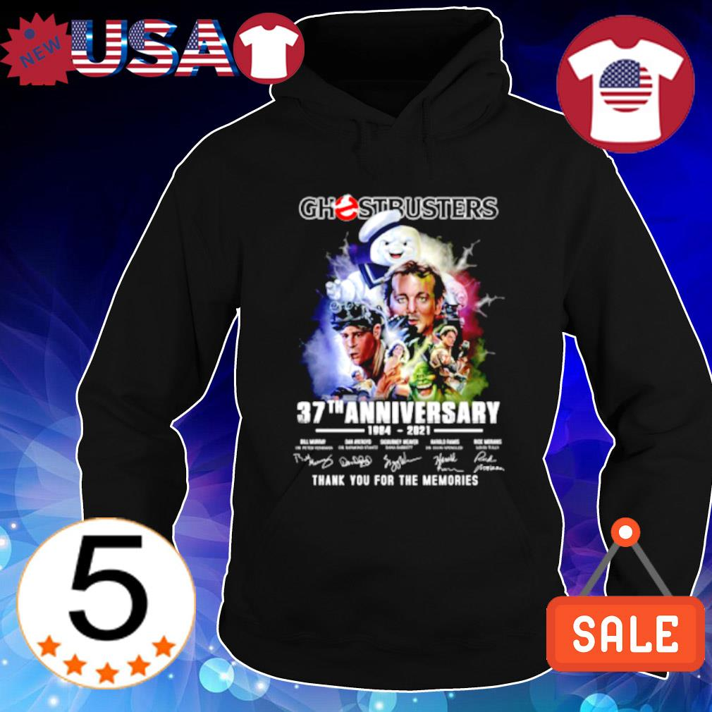 Ghostbusters 37th Anniversary 1984 2021 signature s Hoodie Black