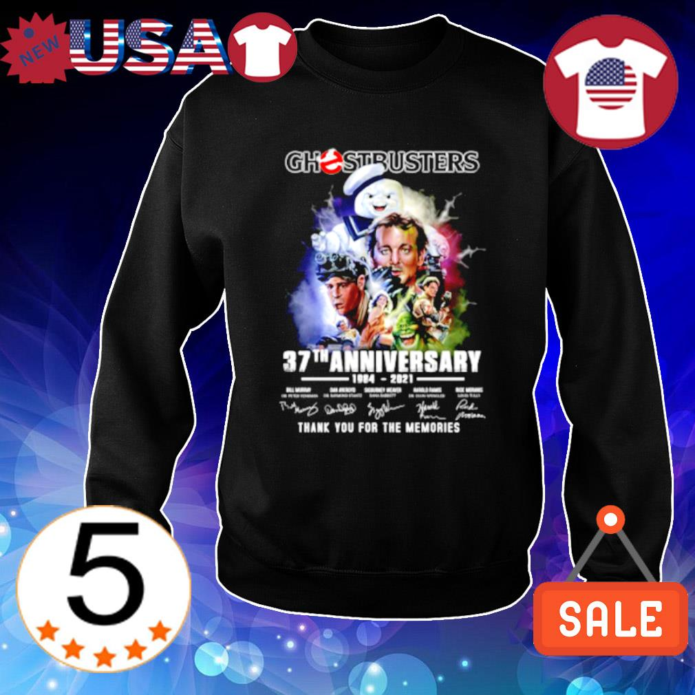 Ghostbusters 37th Anniversary 1984 2021 signature s Sweater Black