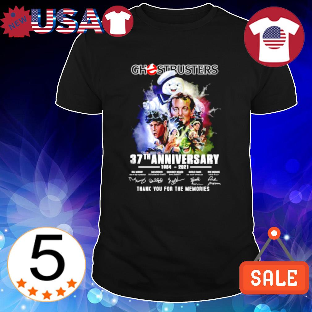 Ghostbusters 37th Anniversary 1984 2021 signature shirt