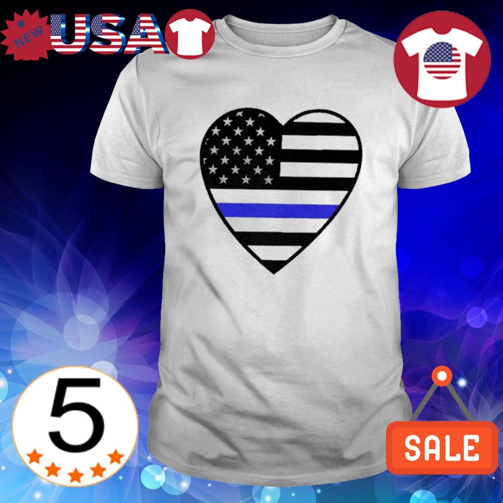Heart Thin Blue Line shirt