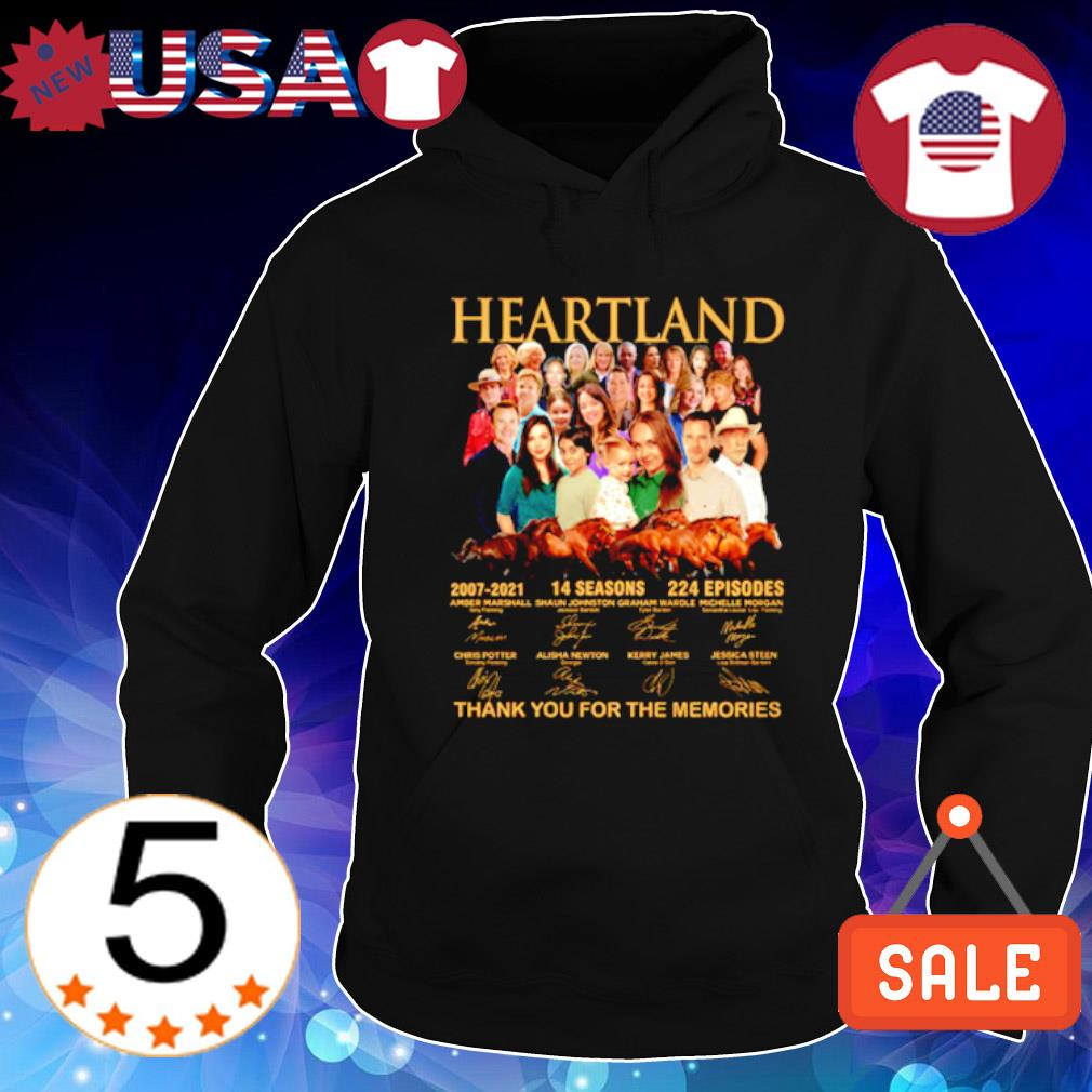 Heartland 2007 2021 14 seasons thank you for the memories characters signature s Hoodie Black
