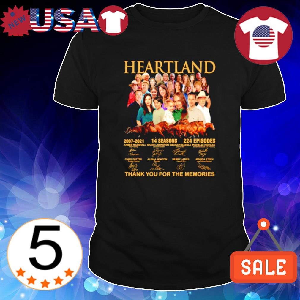 Heartland 2007 2021 14 seasons thank you for the memories characters signature shirt