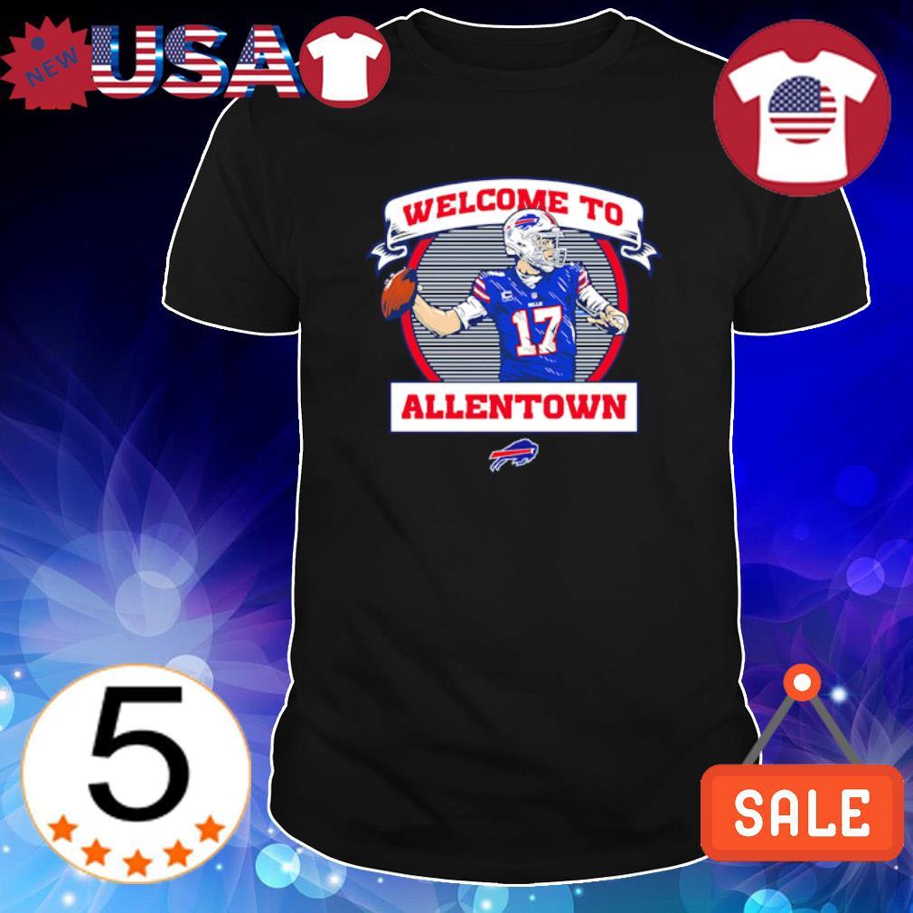 Josh Allen welcome to Allentown Buffalo Bills shirt