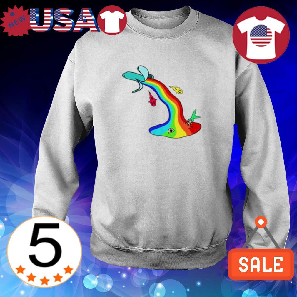 LGBT banana vomit s Sweater White