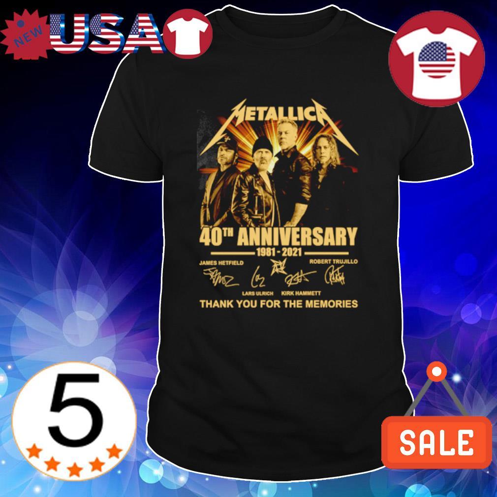 Metallica 40th Anniversary 1981 2021 thank you for the memories shirt