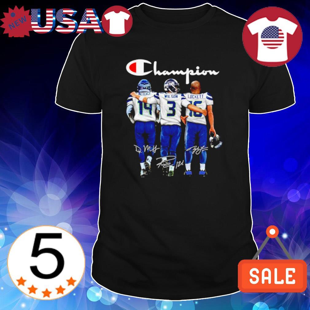 Seattle Seahawks Champion Metcalf Wilson Lockett signature shirt
