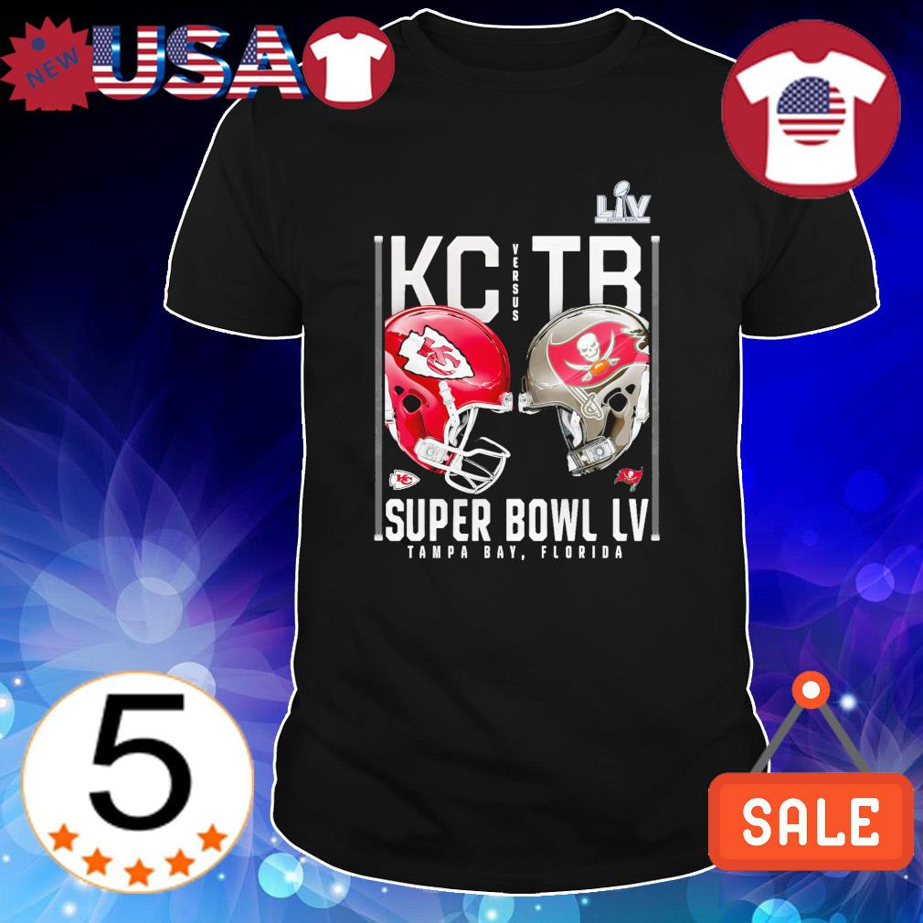 Super Bowl Kansas City Chiefs vs Tampa Bay Buccaneers 7 February 2021 shirt