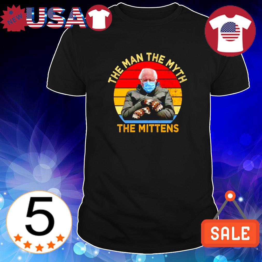 The man the myth the mittens Bernie Sanders vintage shirt