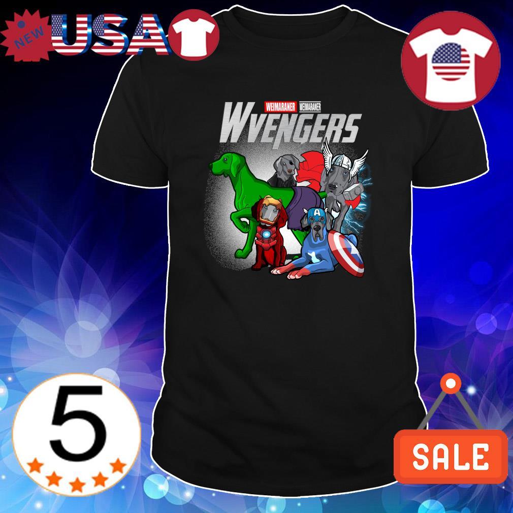 Weimaraner Marvel Avengers Wvengers shirt