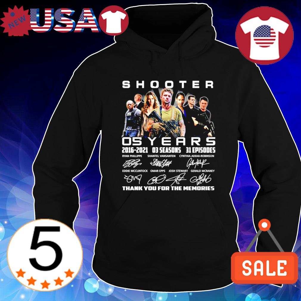 05 years of Shooter 2016 2021 thank you for the memories s Hoodie Black