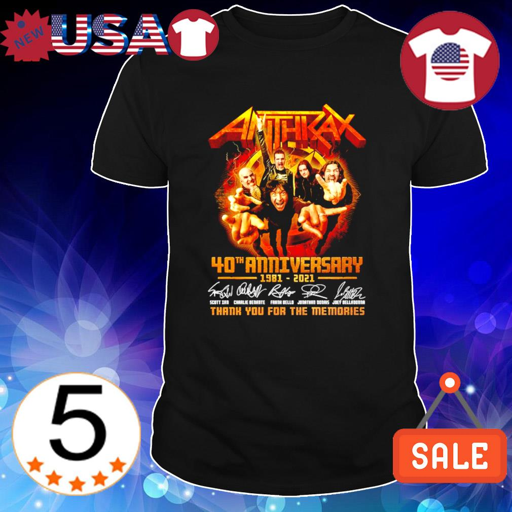 40 years of Anthrax 1981 2021 thank you for the memories shirt