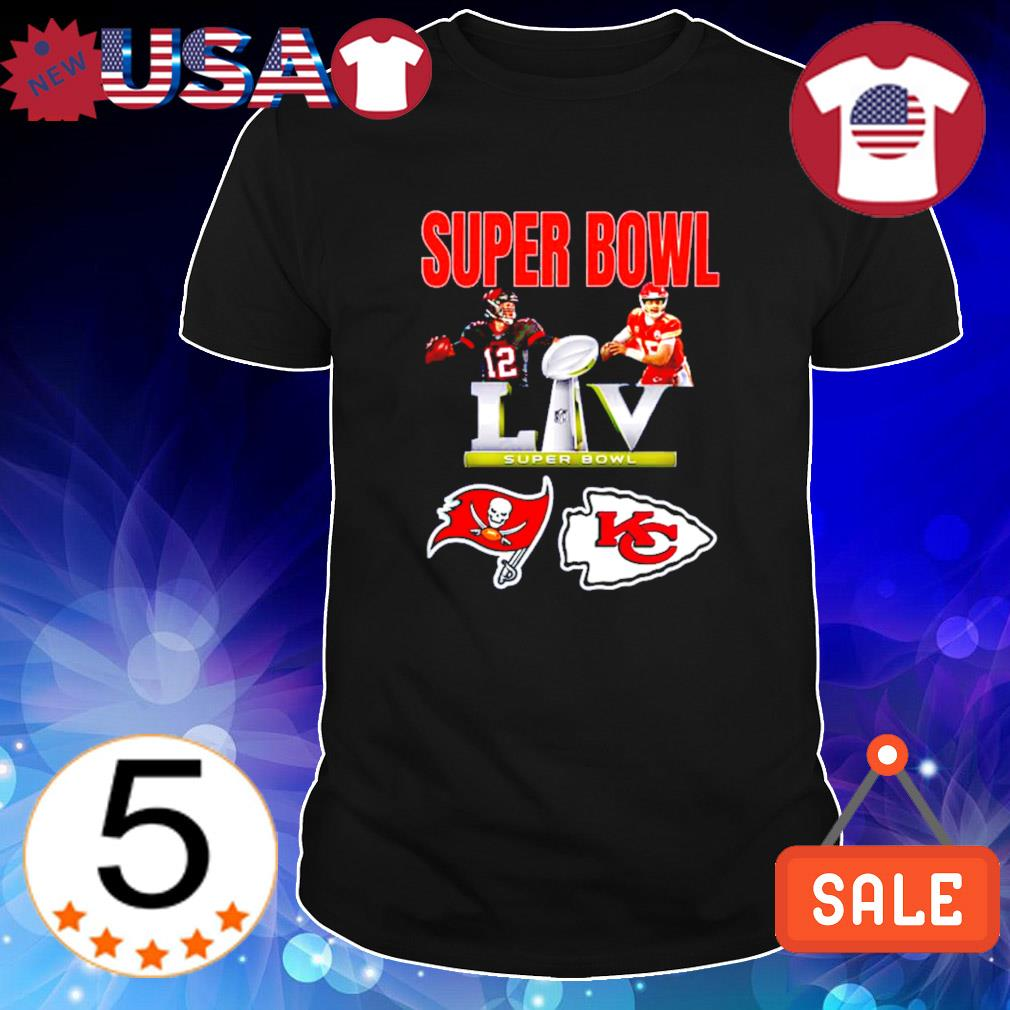 Brady vs Mahomes and Buccaneers vs Chiefs Super Bowl shirt