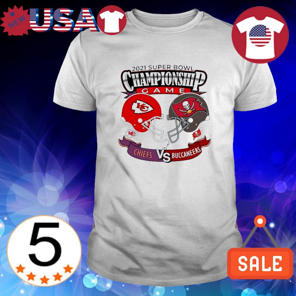 Chiefs vs. Buccaneers 2021 super bowl championship game shirt