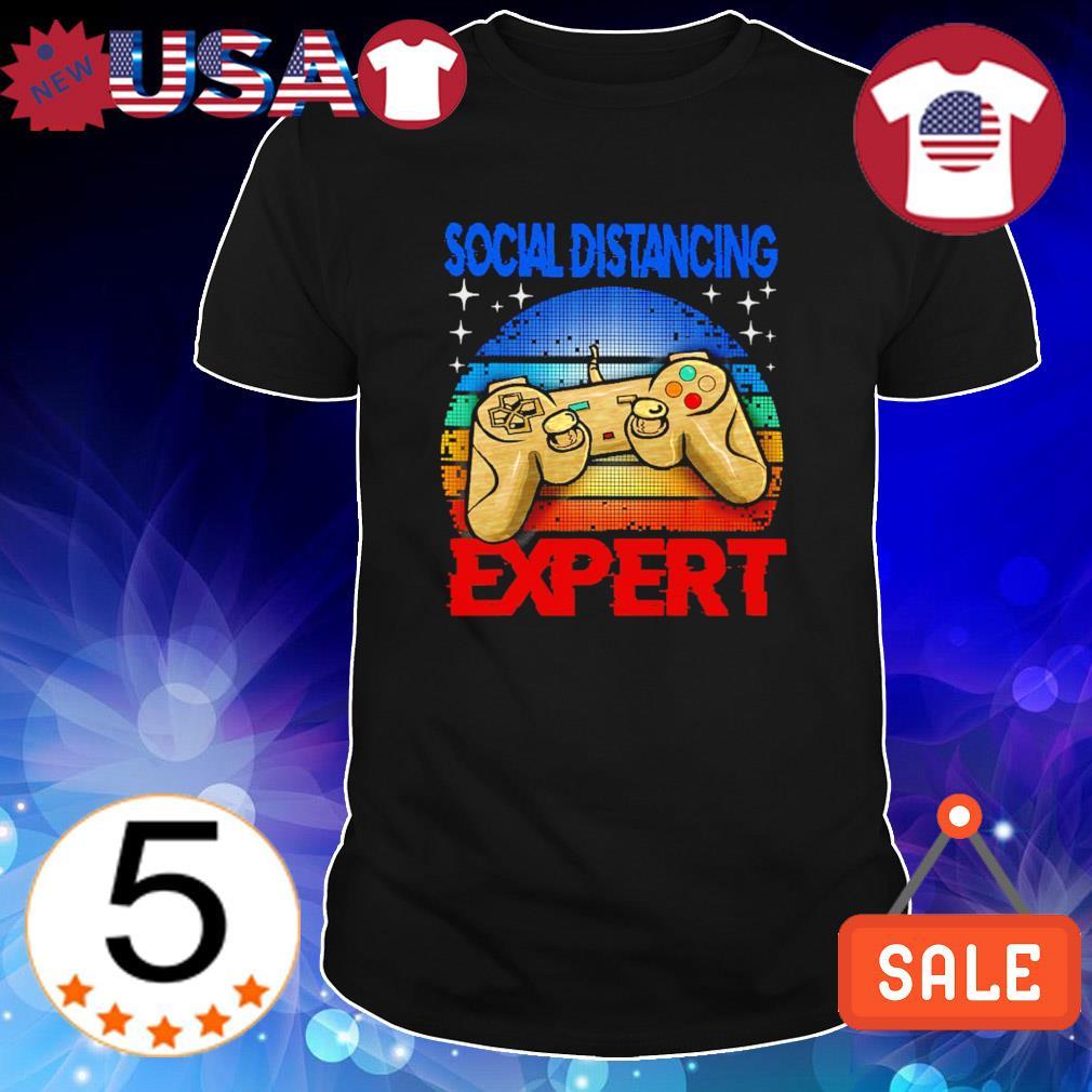 Gamer social distancing expert vintage shirt