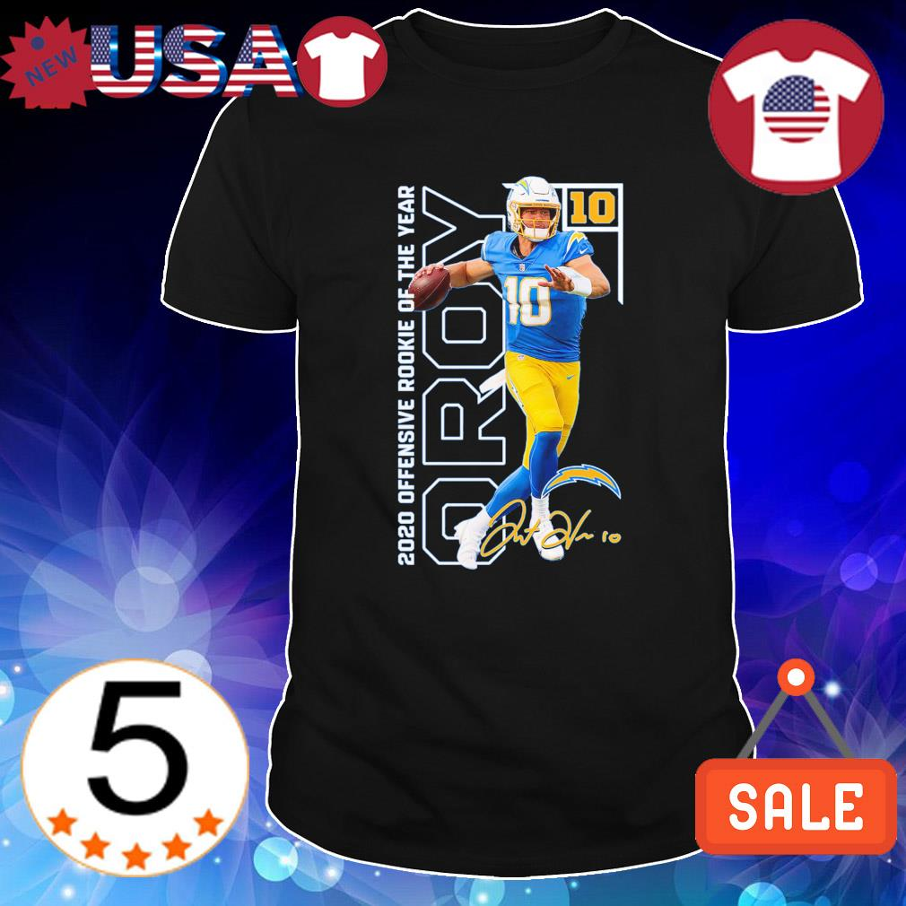 Justin Herbert 2020 NFL Offensive Rookie of the year shirt