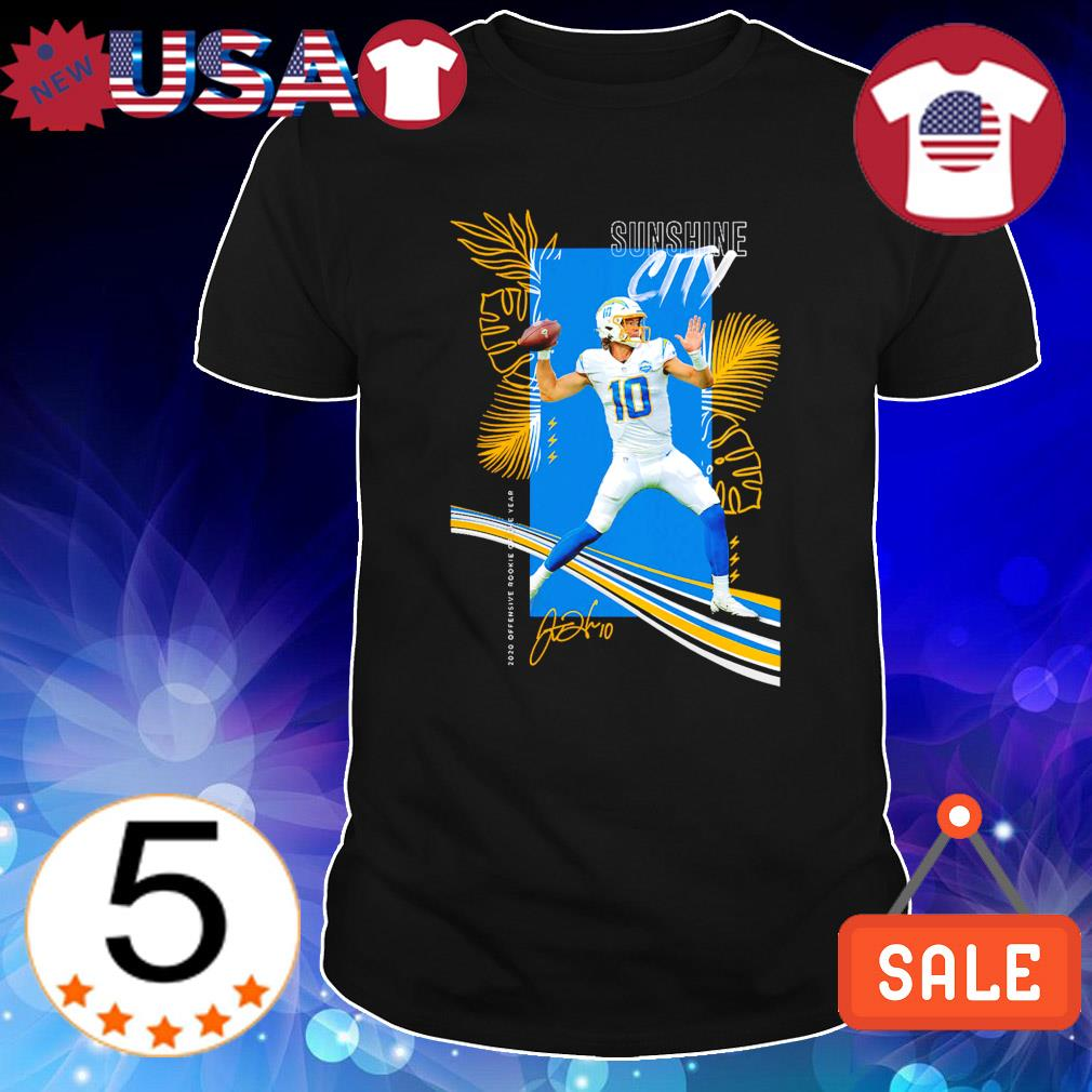 Justin Herbert Los Angeles Chargers 2020 NFL Offensive Rookie of the Year shirt