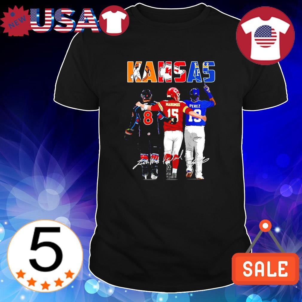 Kansas best players Woods Mahomes Perez shirt