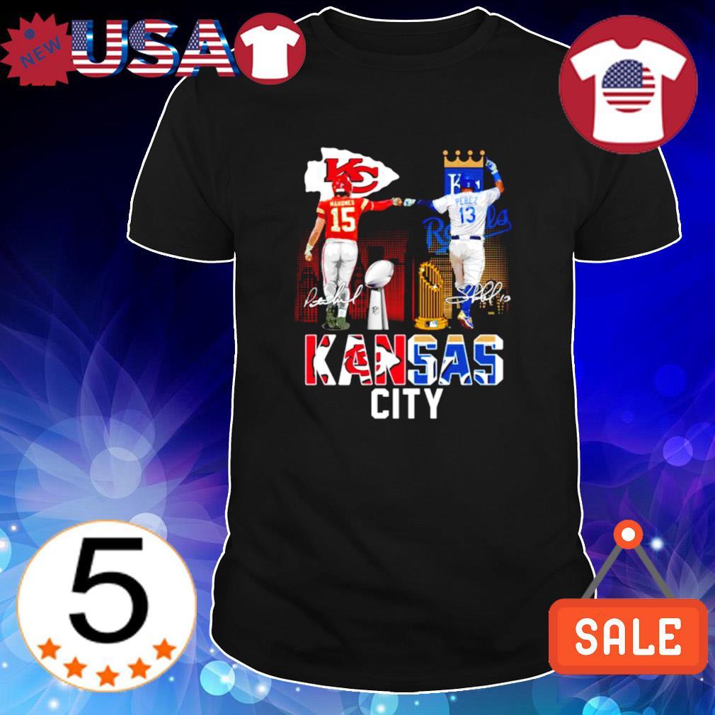 Kansas City Chiefs and Royals Mahomes and Perez champions shirt