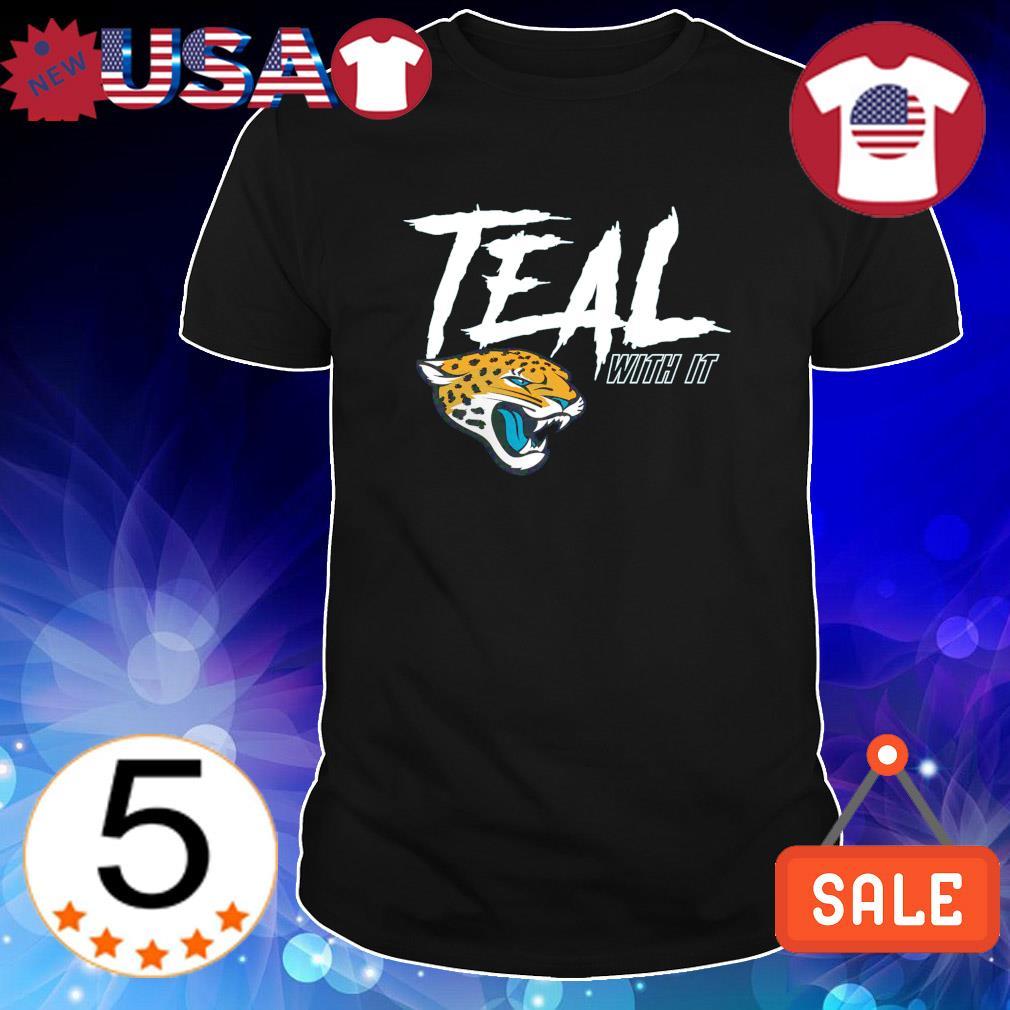 Teal with it Jacksonville Jaguars shirt