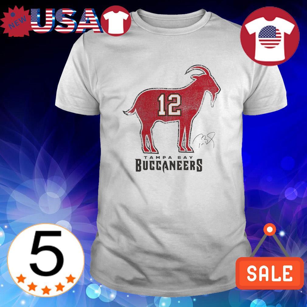Tom Brady 12 Tampa Bay Buccaneers The Goat shirt